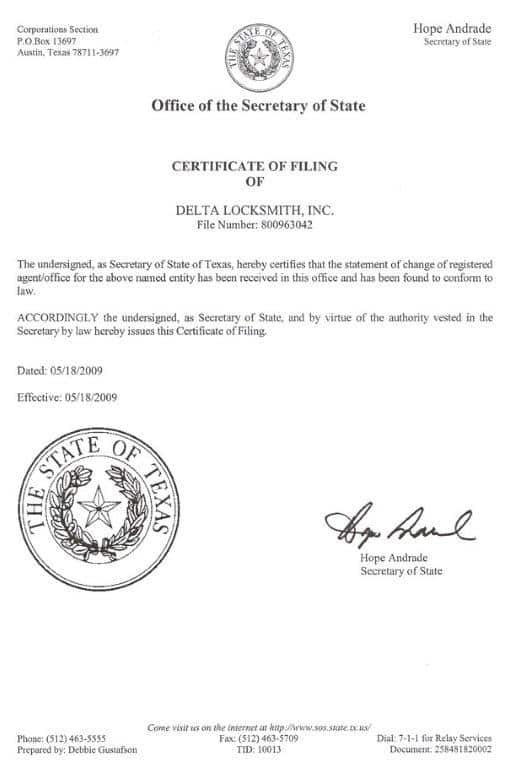 Delta Certificate Number Best Design Sertificate 2018